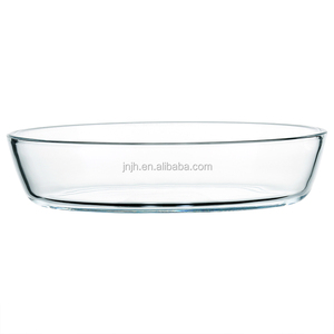 Oval high borosilicate glass baking tray with cover for oven/picnic use