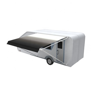 Outdoor Waterproof Roll Up Manual Awning Camper Rv Awning ...