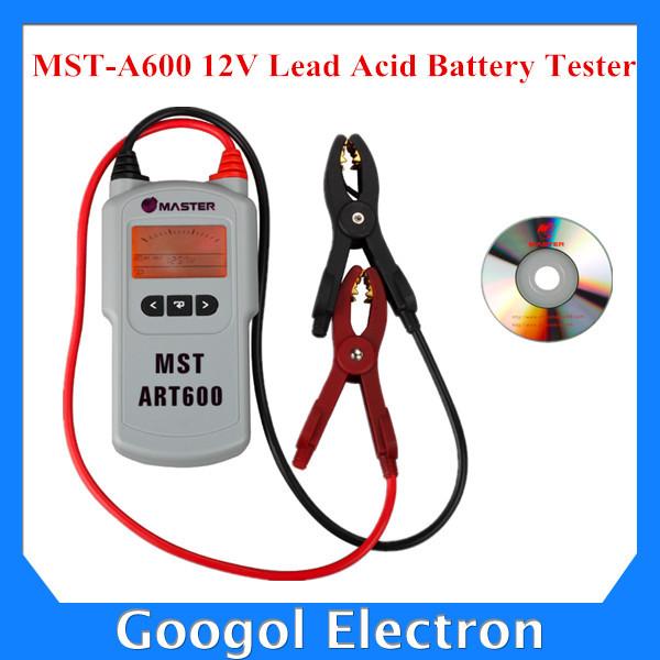 Mst-a600 12 В свинцово-кислотных аккумуляторов тестер аккумулятор MST A600 MSTA600 автомобильные тестеры и щупы бесплатная доставка