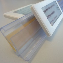 transparent rails for electronic digital price tags