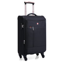 2019 high Quality custom made nylon trolley suitcases luggage for travel