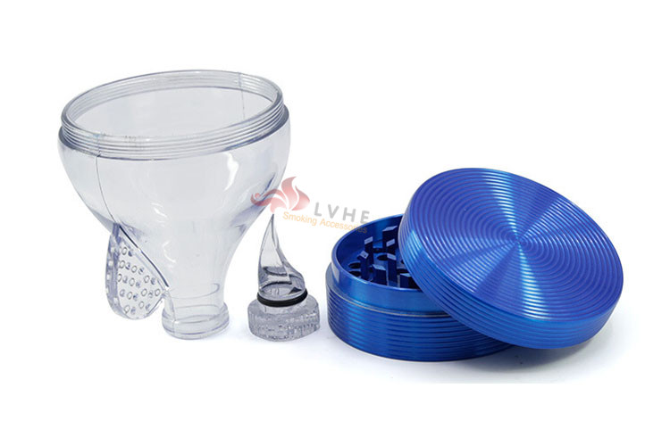 T082GZ LVHE 4 Layers Zinc Wholesale Weed Grinder
