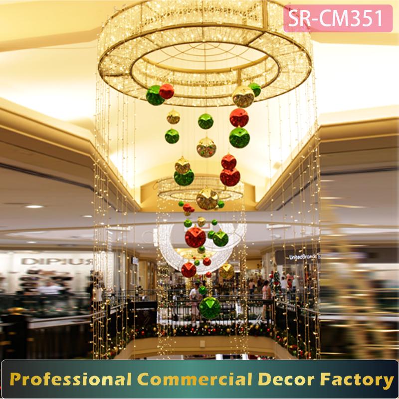 Christmas Decorations In Shopping Malls: מרכז קניות חג המולד אטריום מסחריים מותאם אישית טבעת תליית