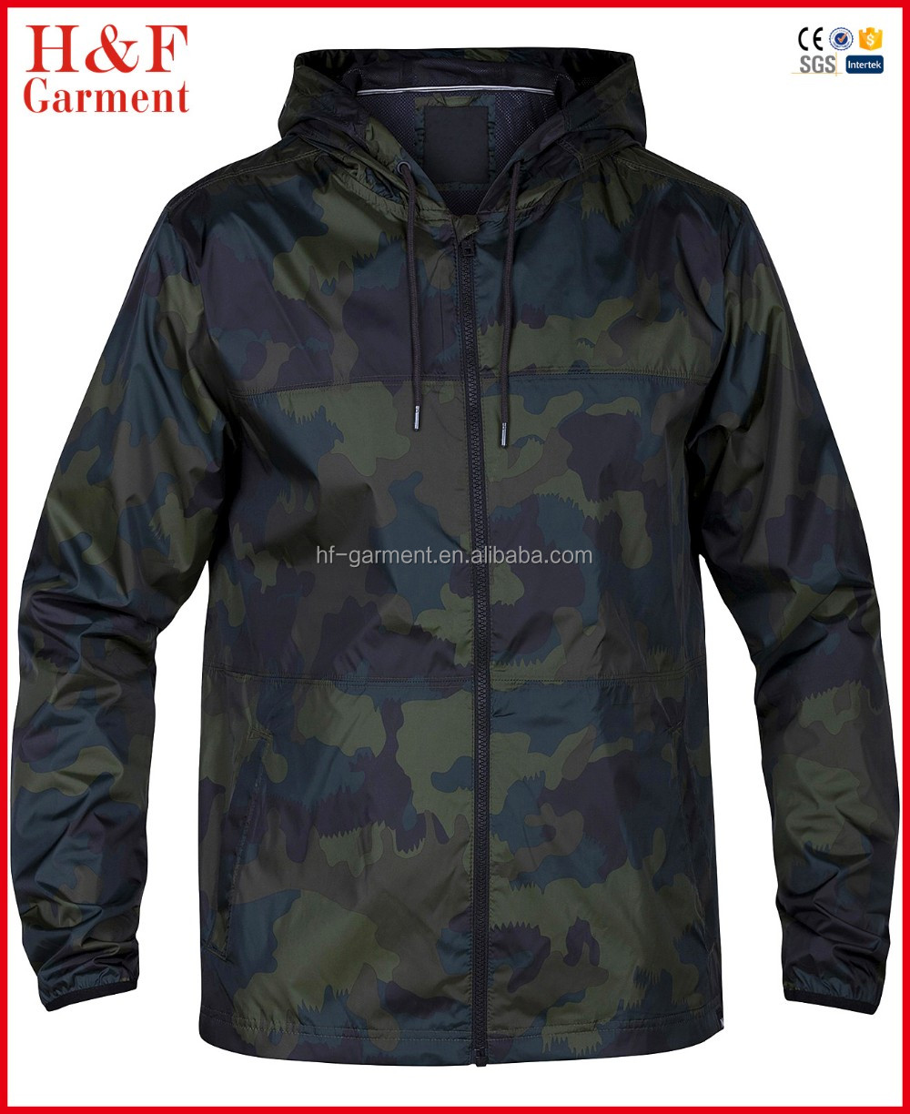 H&F chothes out wear running mens camouflage jacket