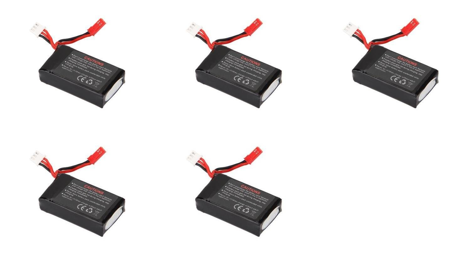 5 x Quantity of Walkera Rodeo 110 FPV Racing Quadcopter Rodeo 110-Z-21 Li-Po Battery 7.4V 850mAh 25C 2S 2 Cell Power Pack Lithium Polymer Fuel Source