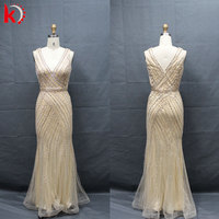 gorgeous sequined backless evening dresses lace appliques sequin beading crystal heavy beaded full length evening dresses