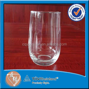Wholesale handblown highball glass cup 280ml airline use gold decal drinking tumbler glass