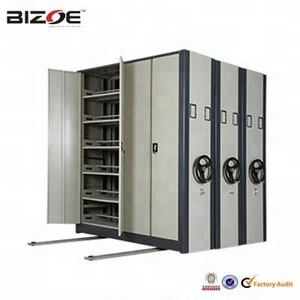 High loading capacity college library metal file shelving mobile storage cabinet