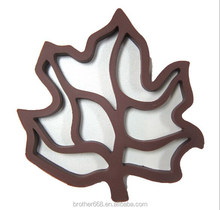 Leaf shape customized silicone kitchen pads/coaster/cup mast/silicone hot pot mats