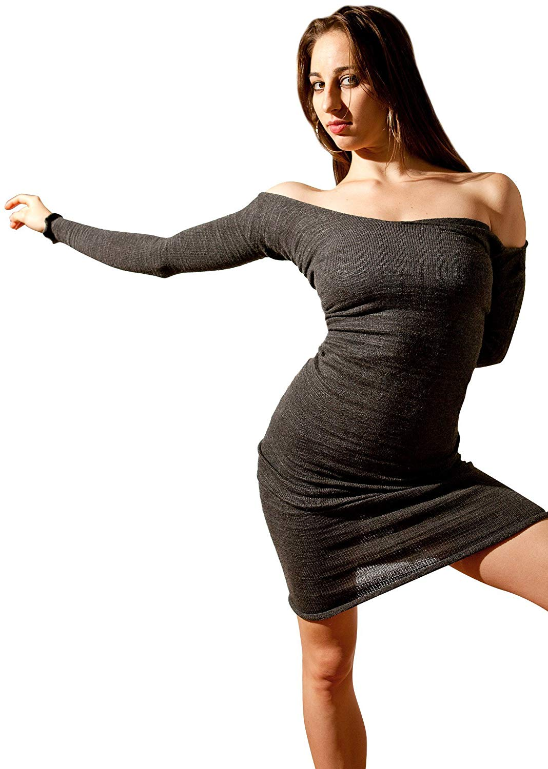 c599f071e365f Get Quotations · Knee High Dance Dress by KD dance NYC Stretch Knit Cozy,  Warm & Durable