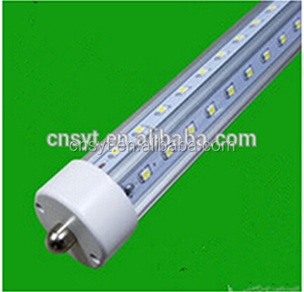 160lm/w 180lm/w 4ft T8 double sided led tube, V shape LED tube light t8, 4ft t8 32w led tube shop light