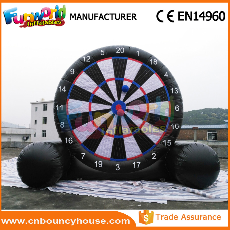 Giant football dart game inflatable soccer fussballdarts inflatable foot darts for sale