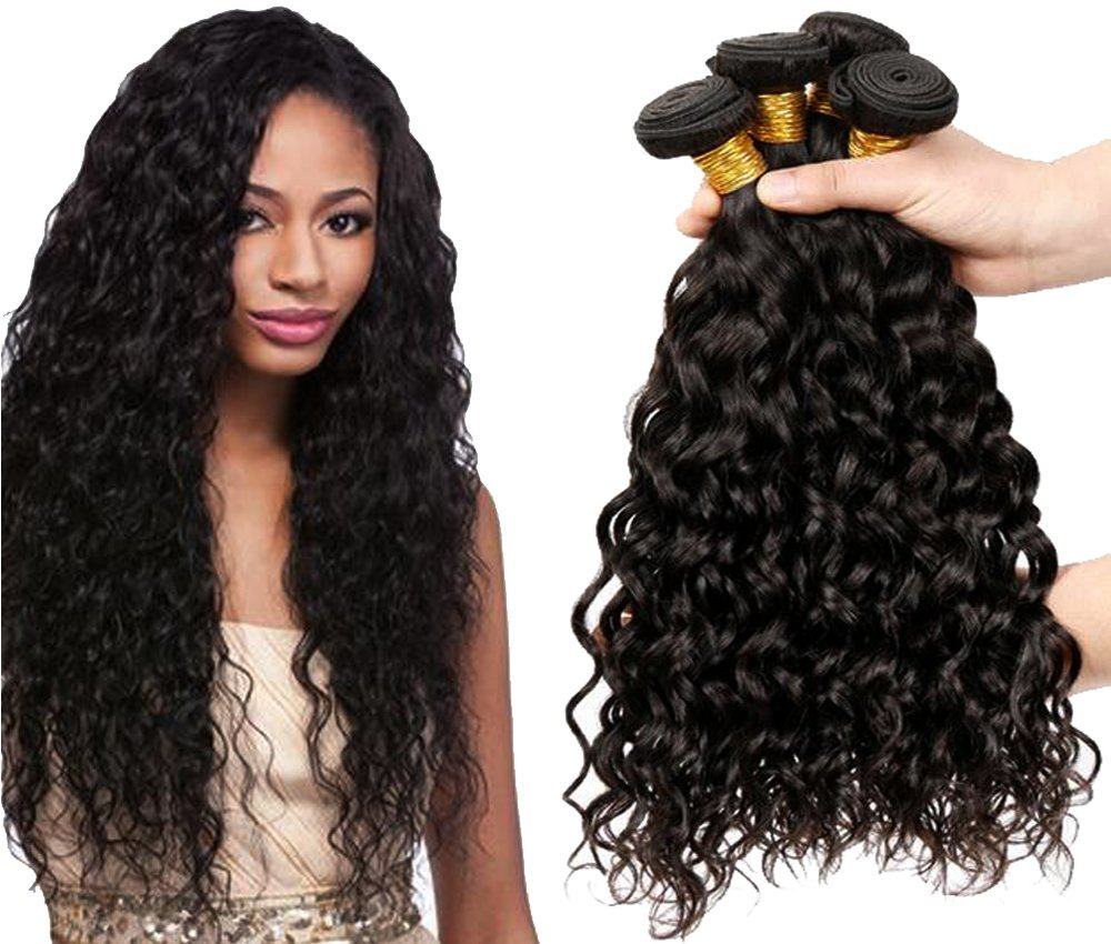 """Remhumhai,Natural Wave Human Hair Extension Without Clip:40""""(100cm),100g(3.5oz),Color #1 Shiny Black,100% Remy Human Hair,Professional Human Hair Factory Selling"""