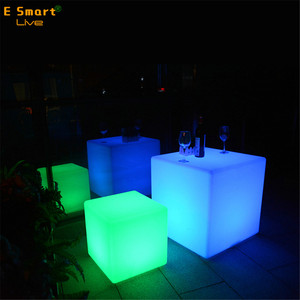 Waterproof Led Cube Chair Lighting Led Plastic Led Cube Chair Wholesale/Colorful Light Up Cube Chair