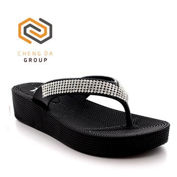 9138d892c Wholesale womens summer beach walk holiday thong sandals shoes jelly wedge  heel flip flops slipper
