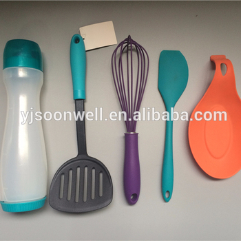 New baking and cooling tools nylon pancake turner set with spoon holder SW-CT19