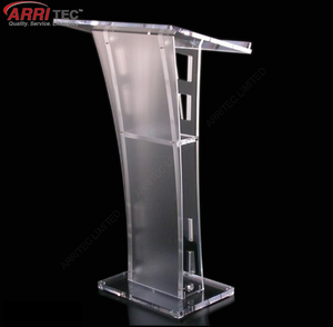 Stylish acrylic pulpit lectern stand platform display with LED