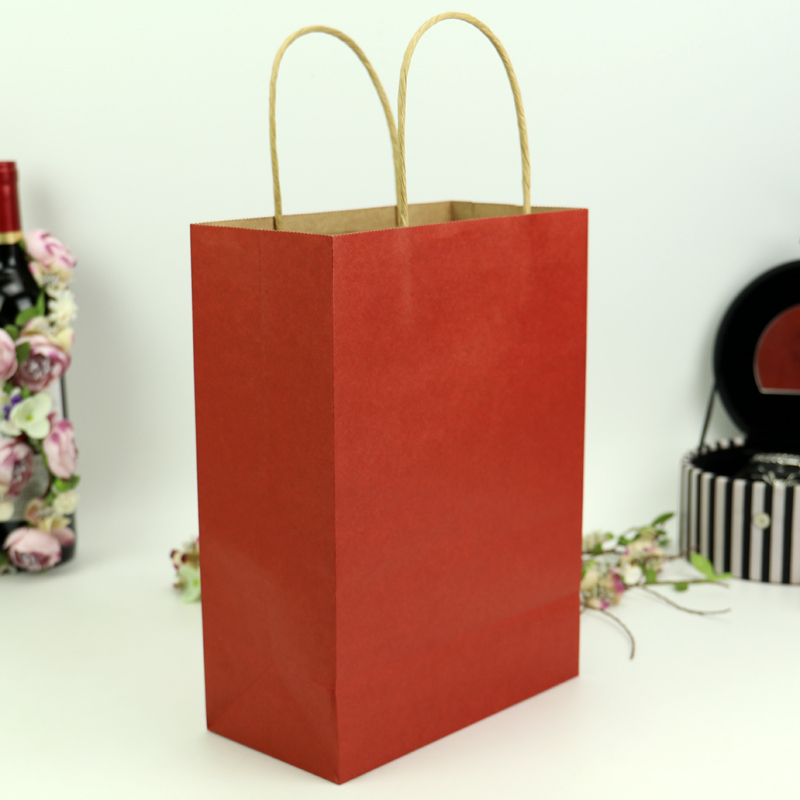 Printed Gift Paper Bag with Paper Handles Hand bag paper kraft pags