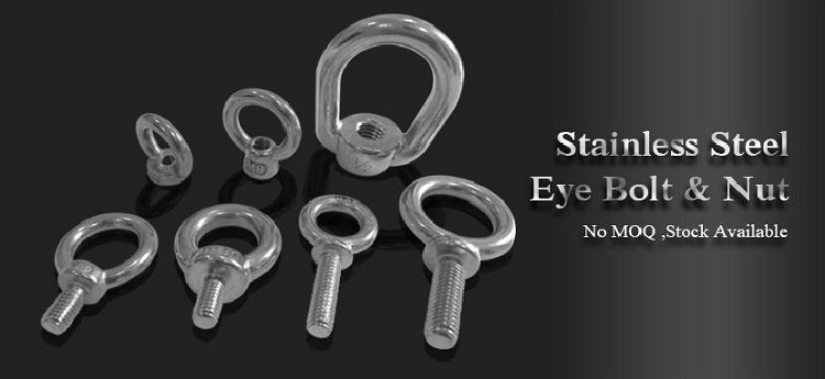 stainless steel hook and eye fastener automotive DIN580 eye bolts