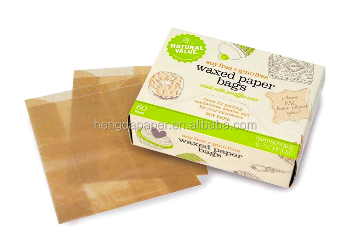 Wax Coated Paper for food