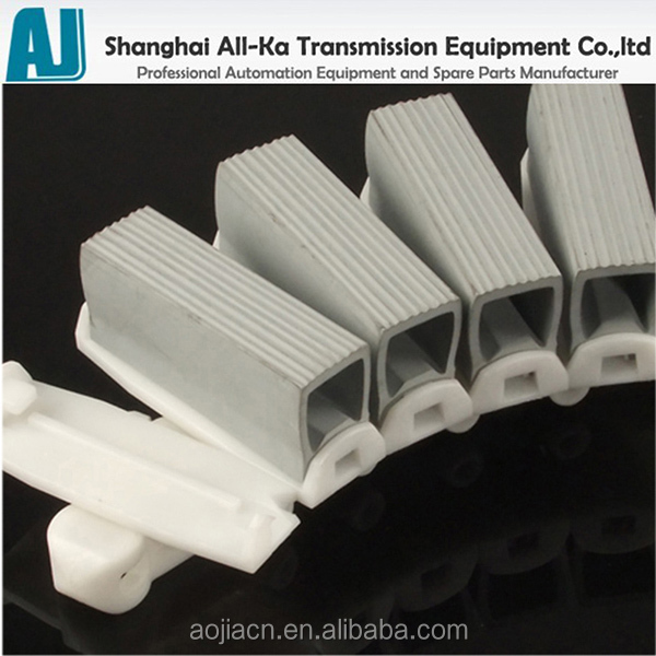 Wholesale Plastic flexible conveyor chain with rubber grippers ...