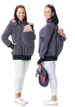 ada318c5f32 winter coat fleece mom and Baby carrier bag windbreaker long sleeve jacket  removable hood maternity breastfeeding