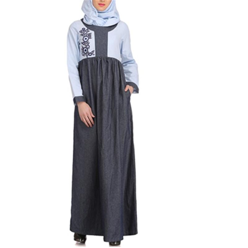 Catálogo de fabricantes de Islámico Abaya Vestido Caftán Bordado de ...