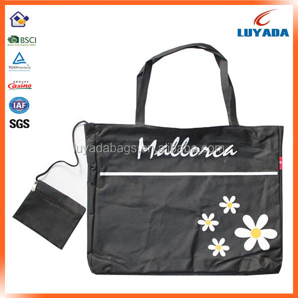 Alibaba China polyester folding shopping bag,custom tote shopping bag