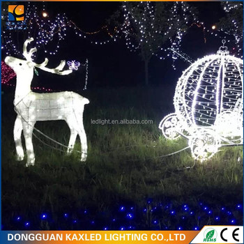 warm white 3d led outdoor lighted deer christmas decoration with ce rohs for christmas decoration