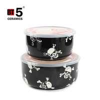 dinnerware keep warm ceramic bowl set with lid