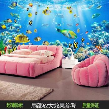 3d Effective Decoration Door Sea Murals Wallpaper Fish Ceiling