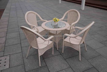 Astounding Outdoor Furniture Garden Rattan Dining Table Set Terrace Cafe Table And Chairs Buy Cheap Cafe Tables And Chairs Dining Round Table And Chair Short Links Chair Design For Home Short Linksinfo
