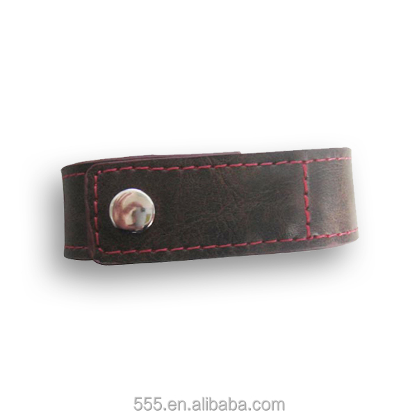 Hot promotion bracelet stock usb sticks leather/ wristband pendrive
