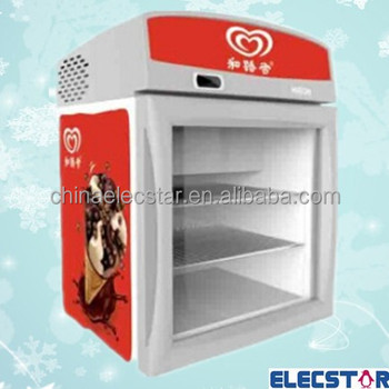 Mini Freezer Ice Cream Display Freezer Countertop Ice