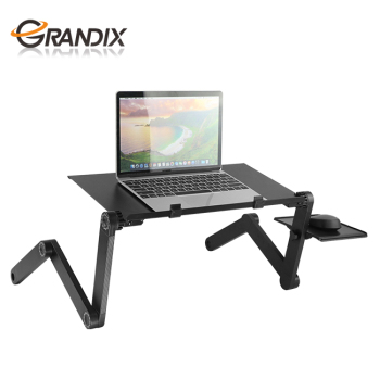 Black Laptop Table Foldable Laptop Riser for Desk High Quality Computer Monitor Stand