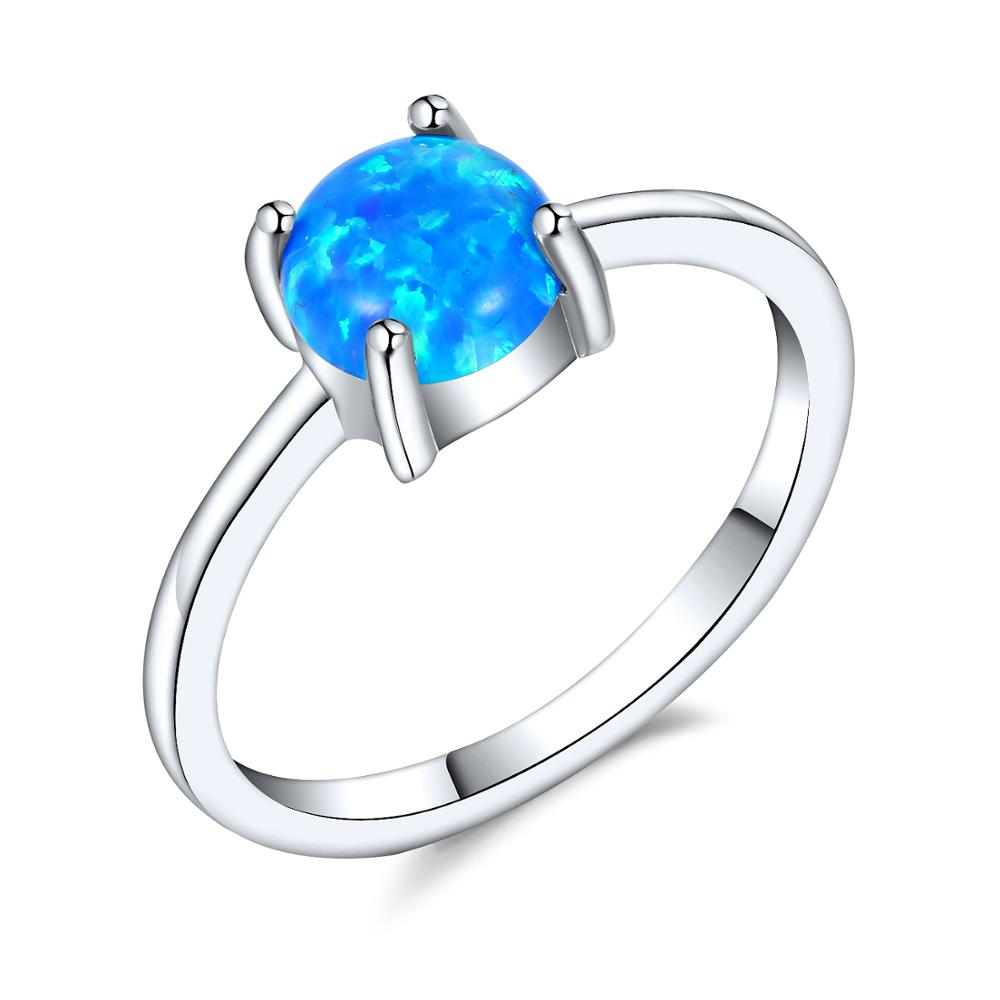 Tungsten Real Woman Jewelry Natural Wholesale Blue Tanzanite Opal Ring