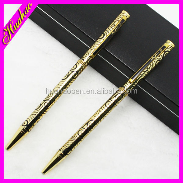 New fancy heat transfer printing metal stylus touch pen with Clip famous brand logos for business person