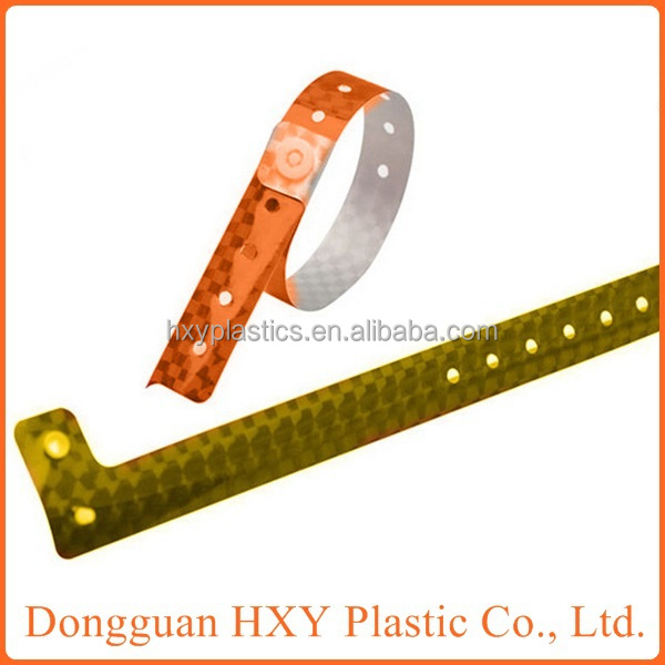 HXY Custom Event Professional Material Adult Size Holographic wristband, holograpic bracelet for activity