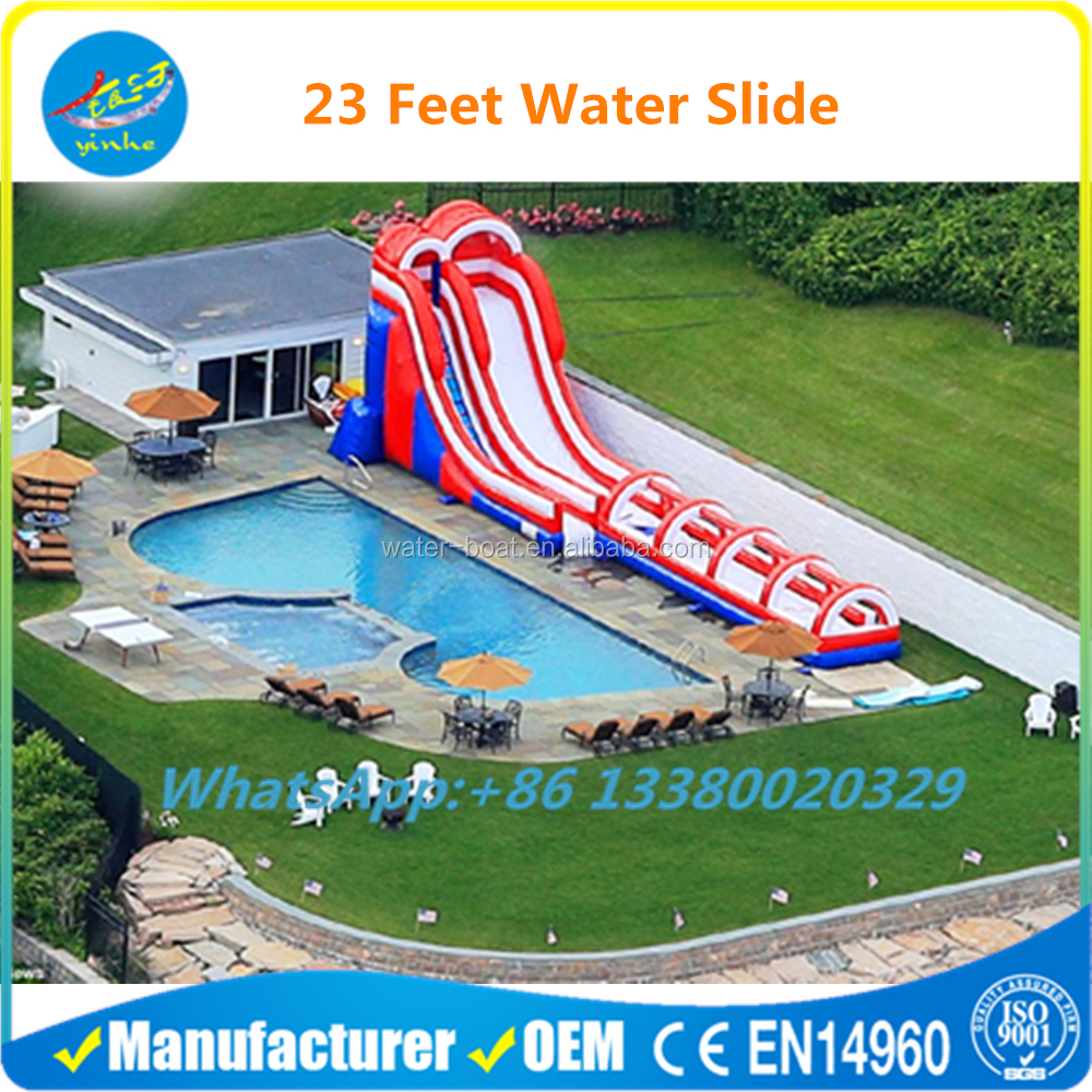Commercial Grade 23 Feet Front Load Inflatable Water Slide
