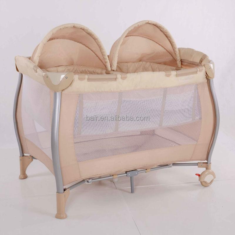 2017 pliage lit b b de couchage double lit pour nouveau n beige couleur avec double serrures. Black Bedroom Furniture Sets. Home Design Ideas