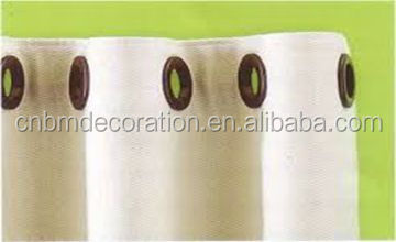 Curtain tape with eyelets