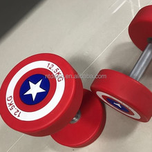 good quality PU used dumbbell set