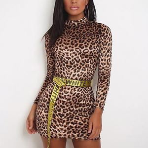 2019 Popular New Listing Leopard Print Women Mini Sexy Bodycon Dress