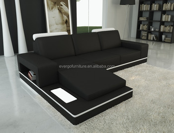 Canada Hot Sale Leather Corner Sofa Small Size Functional Living Room Furniture