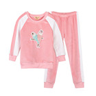 Hot selling good quality kids knitted birds pattern baby girl sports clothing