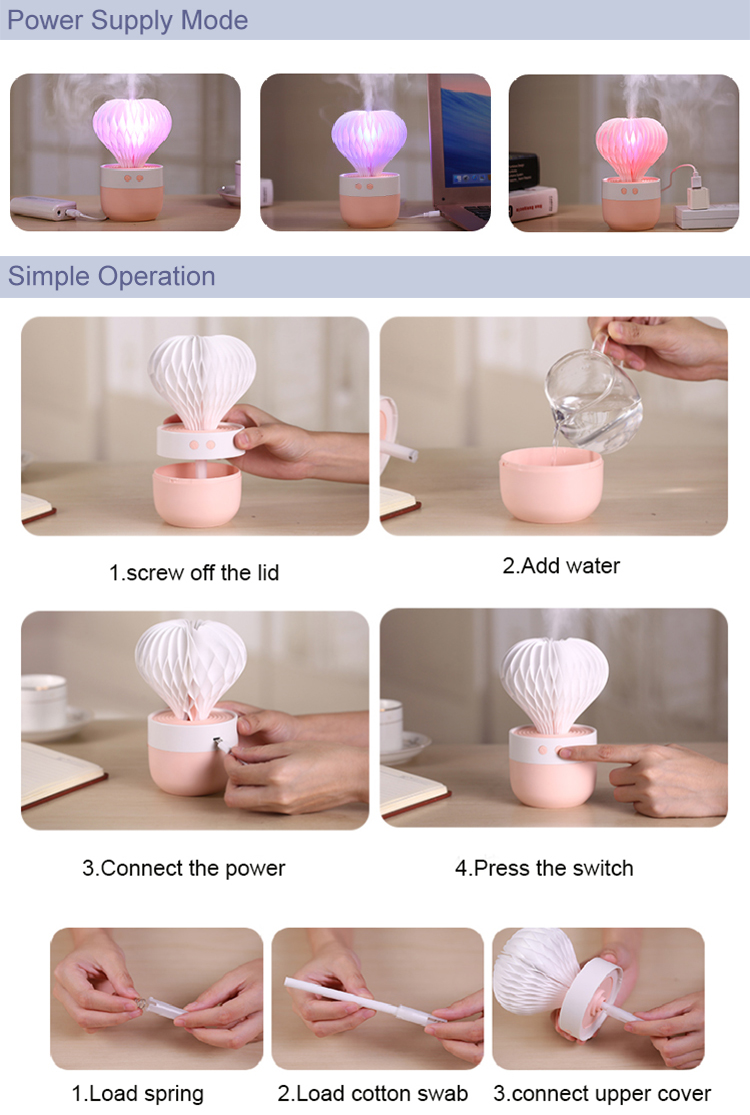 2018 prickly pear usb spray mist home air humidifier for gifts for Room decoration