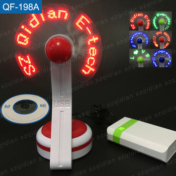 programmable flashing message usb led fan