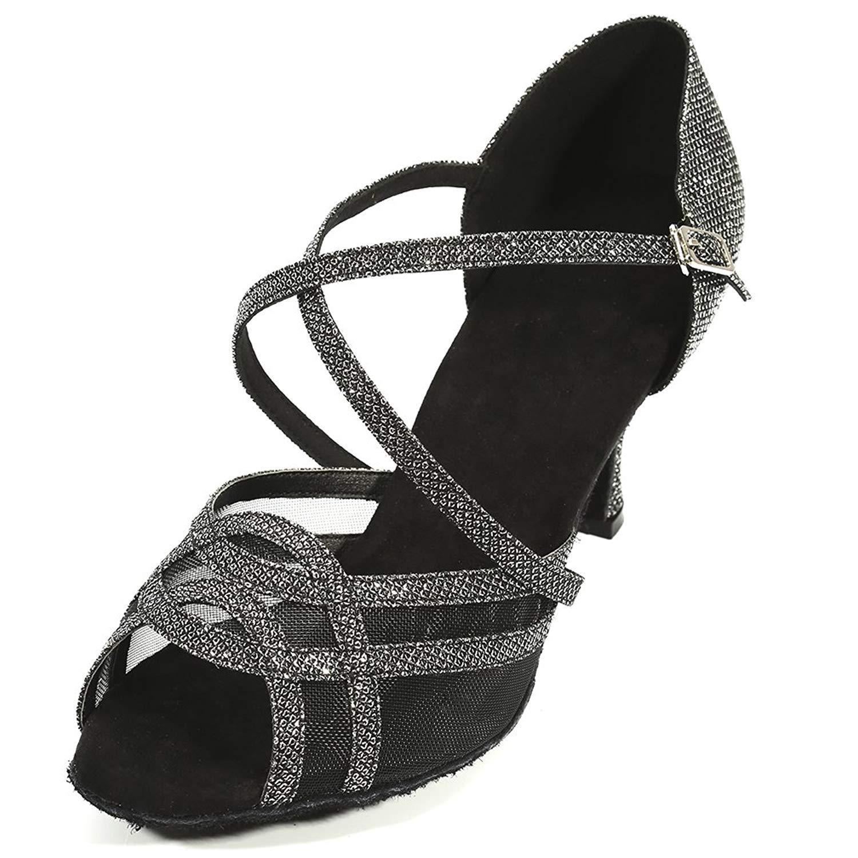 c185104148d6 Get Quotations · Pluma Women Dance Shoes Performance Latin Salsa Tango  Ballroom Dance Shoes 2.9 inch Heel Suede sole
