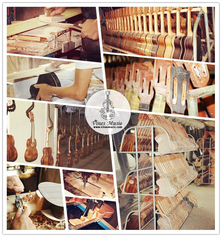 Groothandel ukulele china fabrikanten professionele solid top kleurrijke ukulele