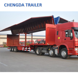 China made cargo transport 3 axles 50 ton wing van trailer